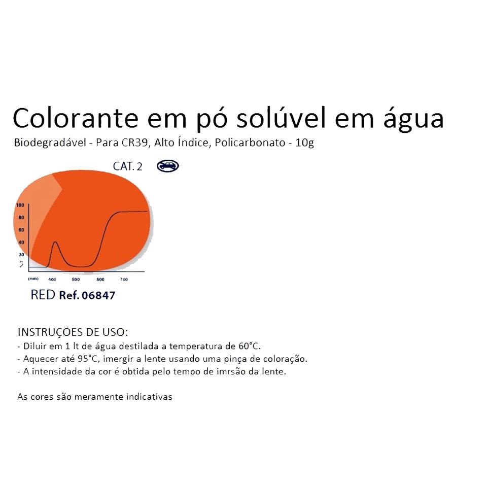 0206847 - Colorante Pó Biodegradavel Verm Mod 6847 FLAG E - Contém 1 Pacote SOB ENCOMENDA