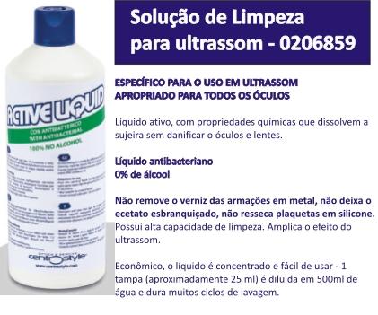 0206859 - Solução Ultrasom Active Liquid Mod 6859 - Contém 1 Litro