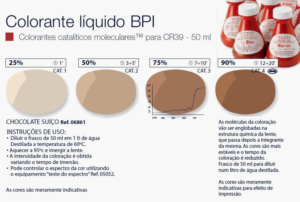 0206861 - Colorante Líquido BPI Marrom Chocolate Mod 6861 FLAG E - Contém 50 Ml SOB ENCOMENDA