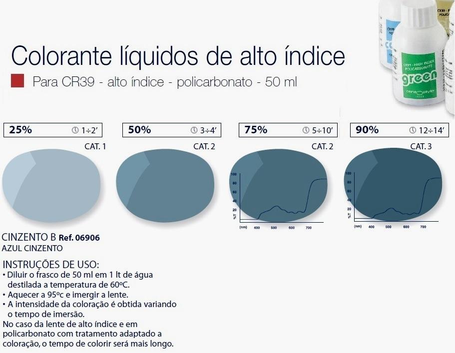 0206906 - Colorante Liquido Cinza B Mod 6906 FLAG 9 - Contém 1 Peça