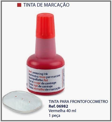 0206982 - Tinta Lensômetro Vermelha Mod 6982 FLAG E - Contém 1 Peça SOB ENCOMENDA