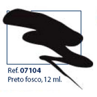 0207104 - Esmalte Retoque Laka Preto Opaco Mod 7104 FLAG P - Contém 12 Ml
