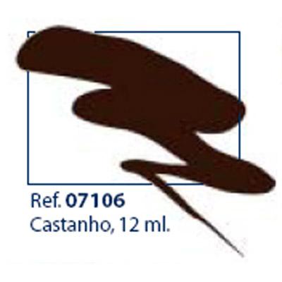 0207106 - Esmalte Retoque Laka Marrom Mod 7106 FLAG P - Contém 12 Ml
