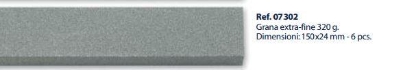 0207302 - Abrasivo Afiadora Extra Fina 320G Mod 7302 FLAG E - Contém 6 Peças SOB ENCOMENDA