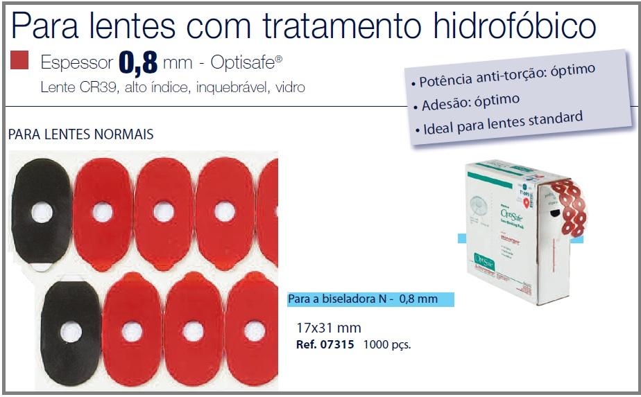0207315 - Biadesivo Blocking Pad Crizal 17x31mm Mod 7315 FLAG E - Contém 1000 Peças SOB ENCOMENDA