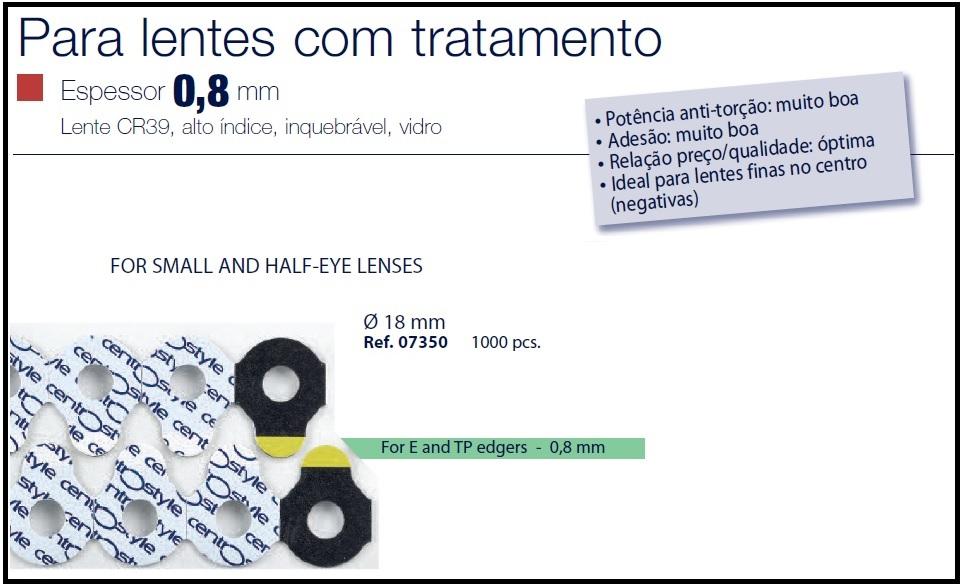 0207350-Biadesivo Blocking Pad CS D=18mm Mod 7350 FLAG E - Contém 1000 Peças  - ENTREGA IMEDIATA