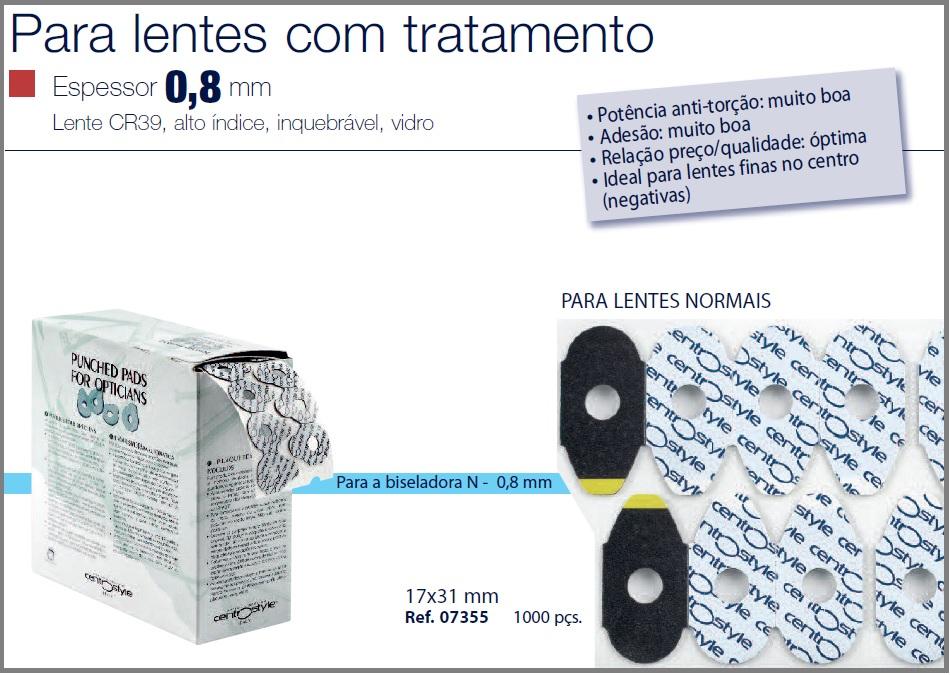 0207355 - Biadesivo Blocking Pad CS 17x30mm Mod 7355 FLAG E - Contém 1000 Peças SOB ENCOMENDA