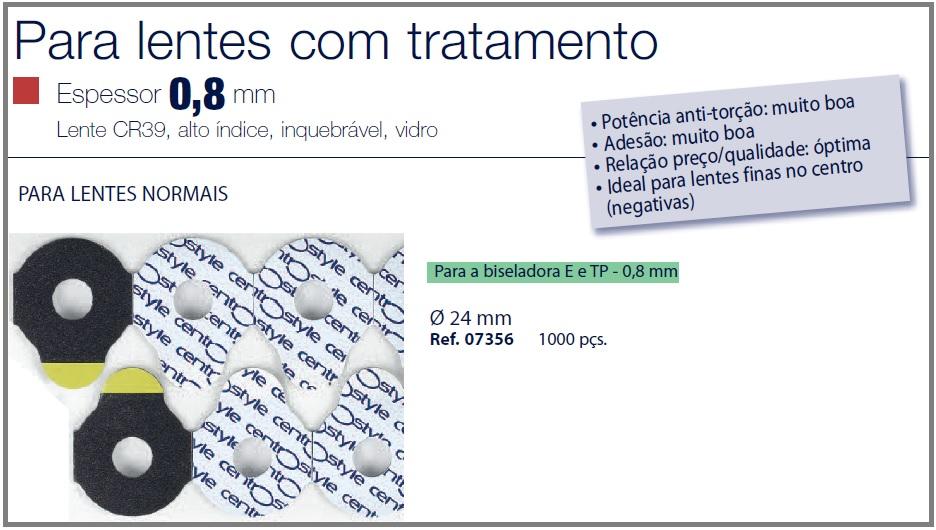 0207356 - Biadesivo Blocking Pad CS D=24mm Mod 7356 FLAG E - Contém 1000 Peças SOB ENCOMENDA