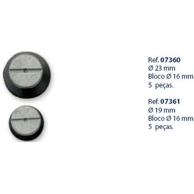 0207361 - Ventosa Weco D=17mm/Bloco 16mm Mod 7361 FLAG 9 - Contém 5 Peças
