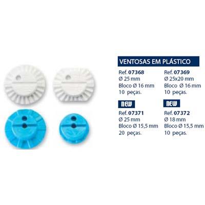 0207371 - Bloco Essilor D=25mm/Bloco 15,5mm Mod 7371 FLAG E - Contém 20 Peças SOB ENCOMENDA