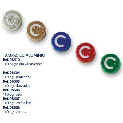 0208604 - Acessório-LC Braçadeira Prata Mod 8604 FLAG 9 - Contém 100 Peças