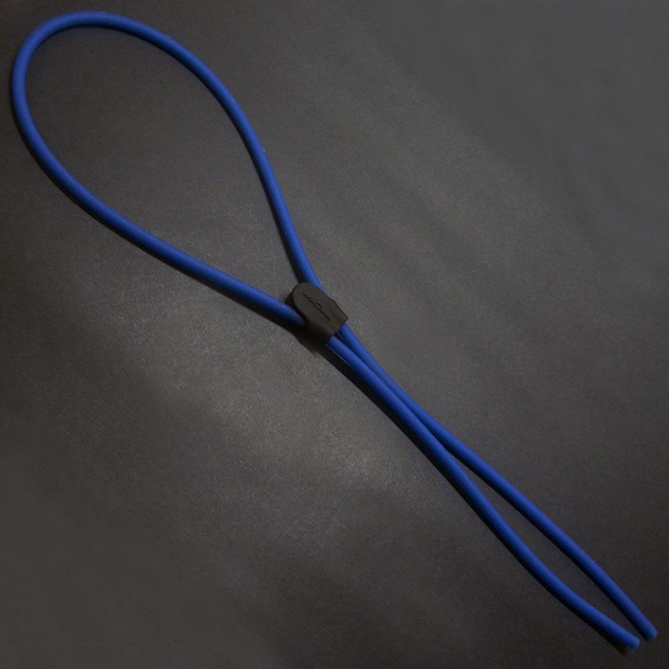 0208929 - Cordão 02 Silicone Tubo Peq Ajustável Azul Mod 8929  -Contém 6 Peças