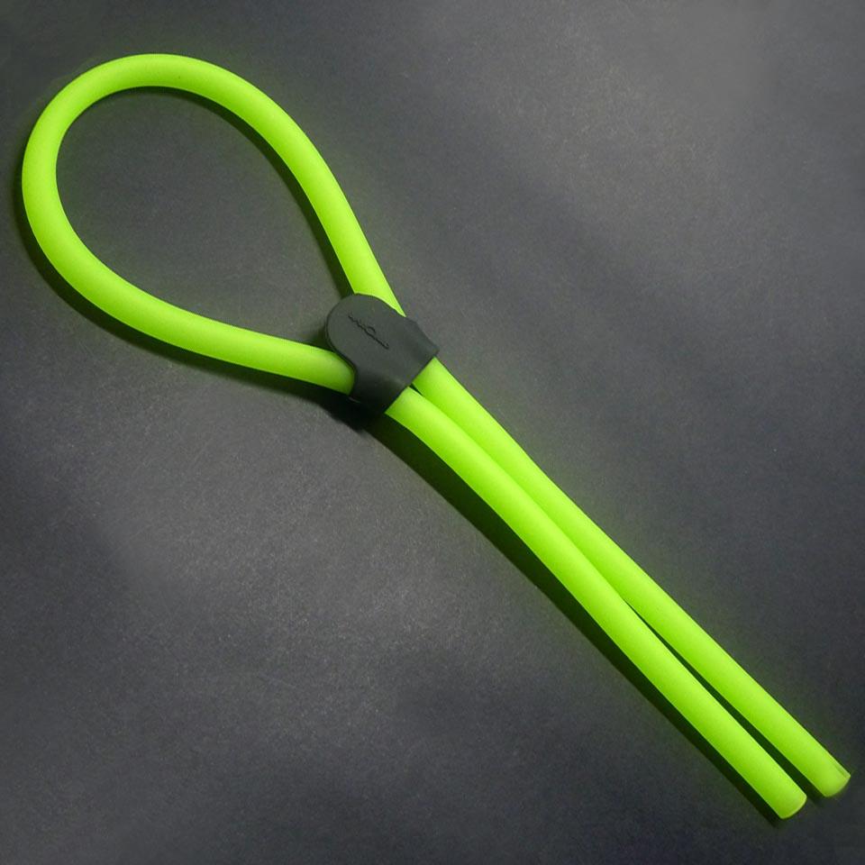 0208959 - Cordão Silicone Tubo Gde Ajustável Verde Mod 8959 FLAG E - Contém 6 Peças SOB ENCOMENDA