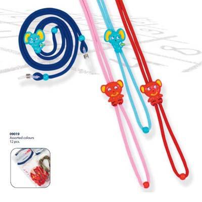 0209019-Cordão Infantil Ajustável Mouse Sortido Mod 9019 FLAG E - Contém 12 Peças  - SOB ENCOMENDA
