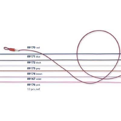 0209172 - Cordão QuasiZero Microfibra Preta Mod 9172  -Contém 12 Peças