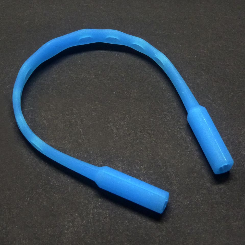 0210007 - Cordão Silicone Peq Azul Claro Mod 10007 - Contém 3 Peças