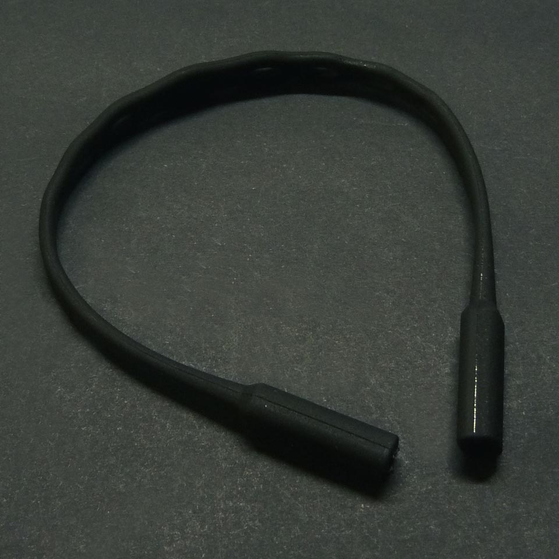 0210011 - Cordão Silicone Médio Preto Mod 10011 - Contém 3 Peças