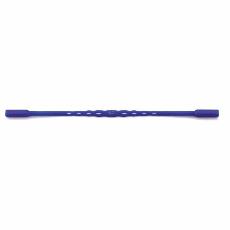 0210012 - Cordão Silicone Médio Azul Mod 10012 - Contém 3 Peças