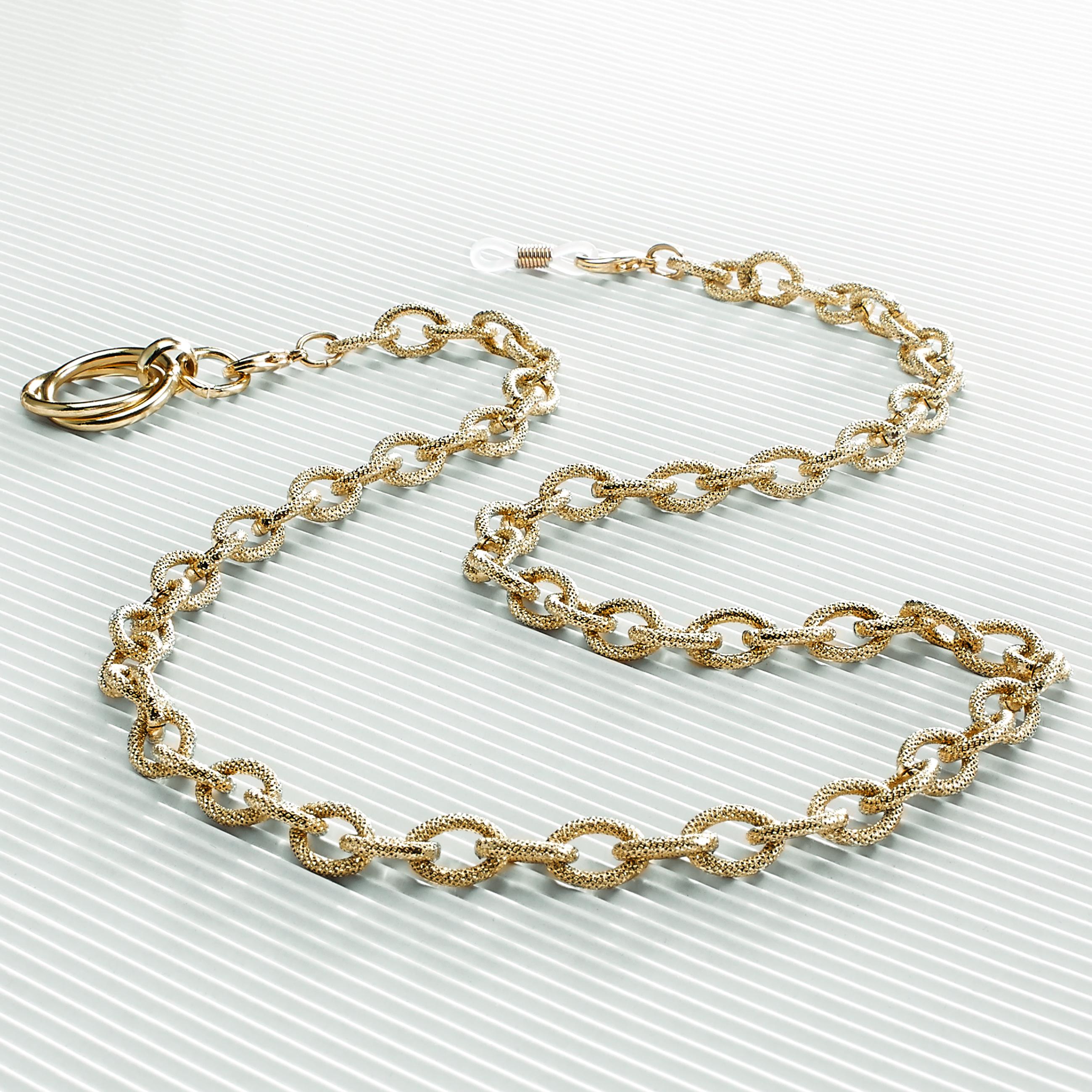 0210071-Corrente metal dourado estojo microfibraFLAG E - Contém 1 Peça  - SOB ENCOMENDA
