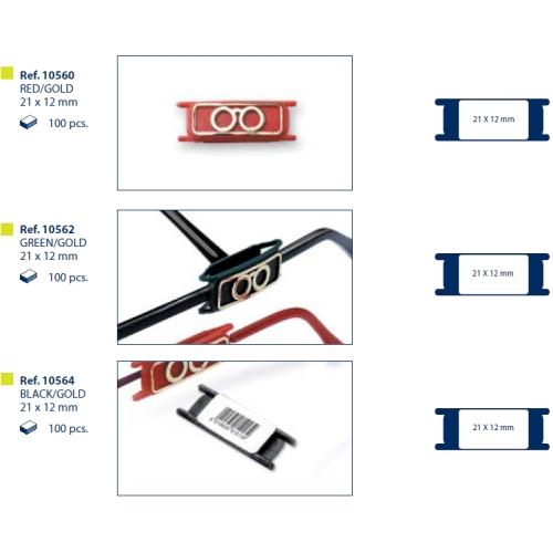 0210568 - Marca-Preço Sortido Mod 10568 FLAG 9 - Contém 300 Peças