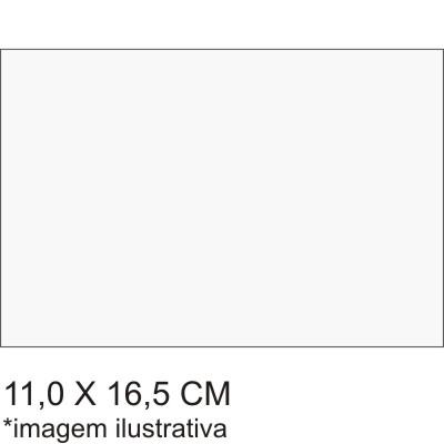 0211562B - Microfibra Standard 11x16,5 Branca Mod 11562B - Contém 100 Peças