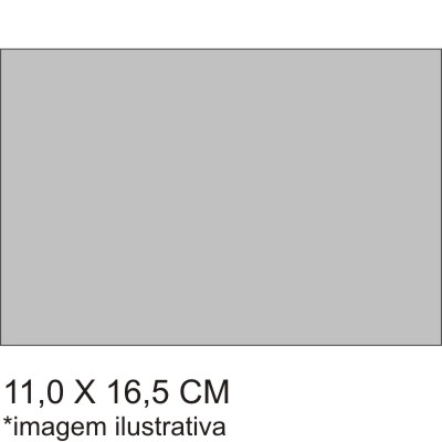 0211563B - Microfibra Standard 11x16,5 Cinza Mod 11563B - Contém 100 Peças