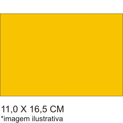 0211564B - Microfibra Standard 11x16,5 Ouro Mod 11564B - Contém 100 Peças