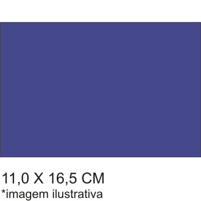 0211566B - Microfibra 02 Standard 11x16,5 Azul Mod 11566B  -Contém 100 Peças