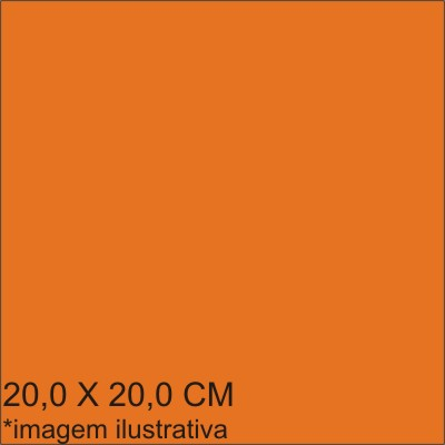 0211575B - Microfibra 02 Standard 20x20,0 Laranja Mod 11575B FLAG E  -Contém 100 Peças