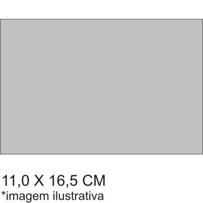 0211714EV - Microfibra Premium 11x16,5 Cinza Mod 11714EV FLAG E - Contém 100 Peças SOB ENCOMENDA