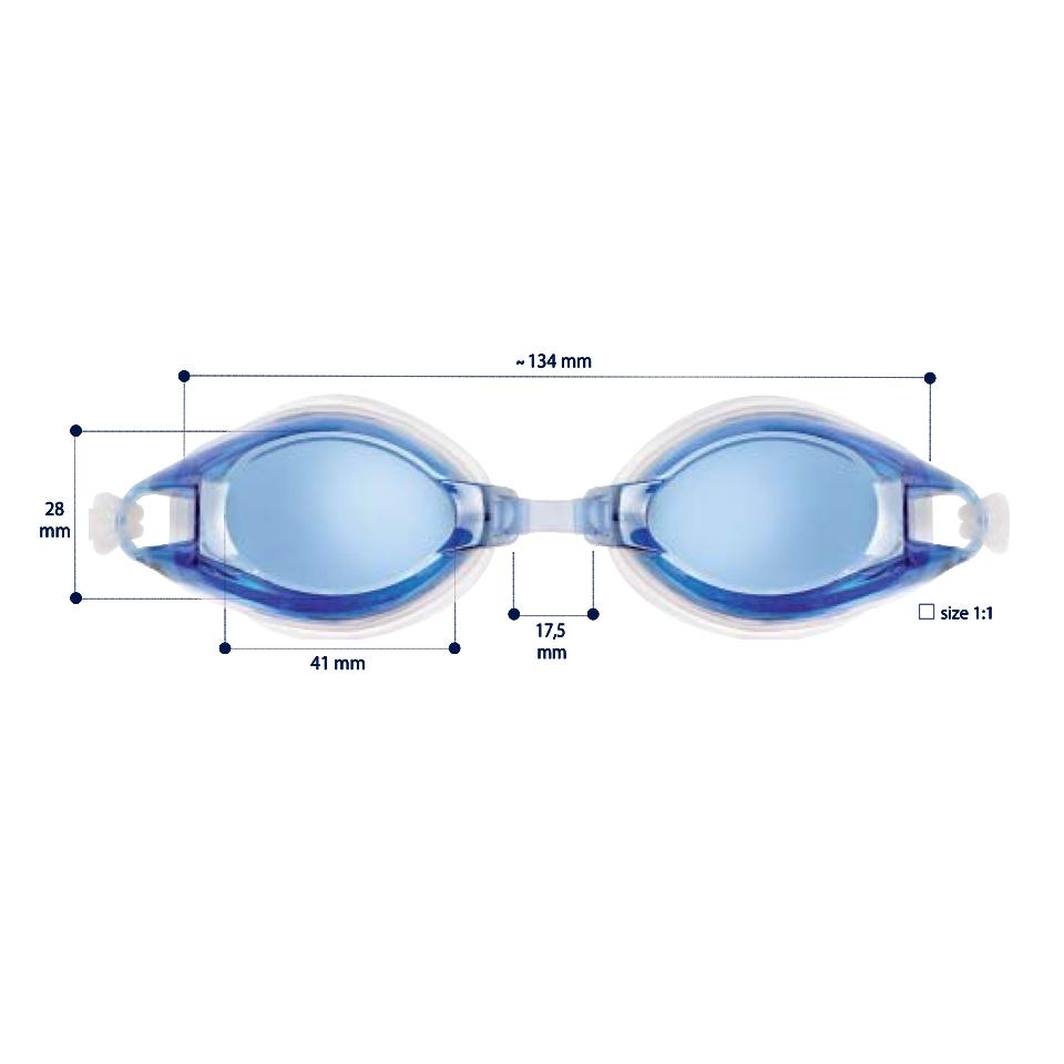 0212136 - Óculos Natação Medio -1,00 Mod 12136 FLAG 9 - Contém 1 Peça
