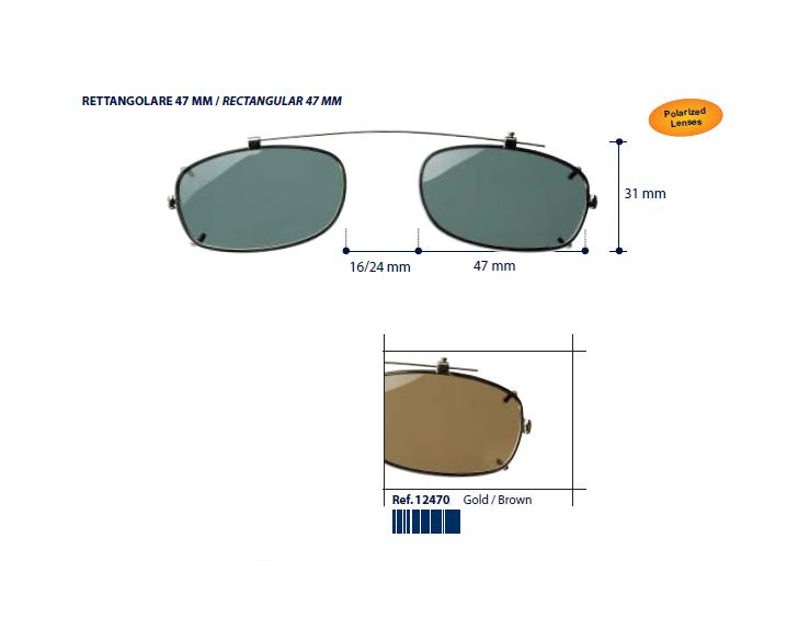 0212470 - Clip-On Metal Fixo Retang 47 Ouro/Marrom Mod 12470 FLAG 9 - Contém 1 Peça