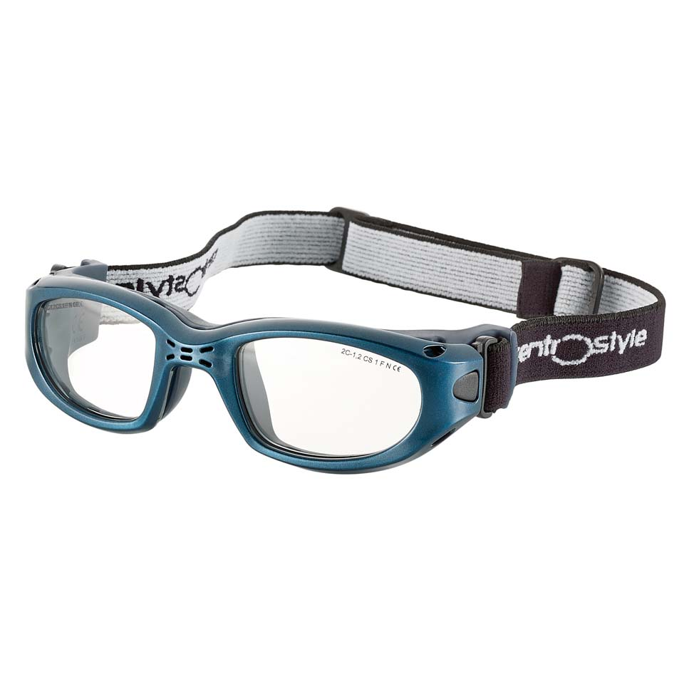 0213402 - Óculos Proteção Esporte Banda Elástica 47x20 Azul/Azul Mod 13402 FLAG E - Contém 1 Peça SOB ENCOMENDA