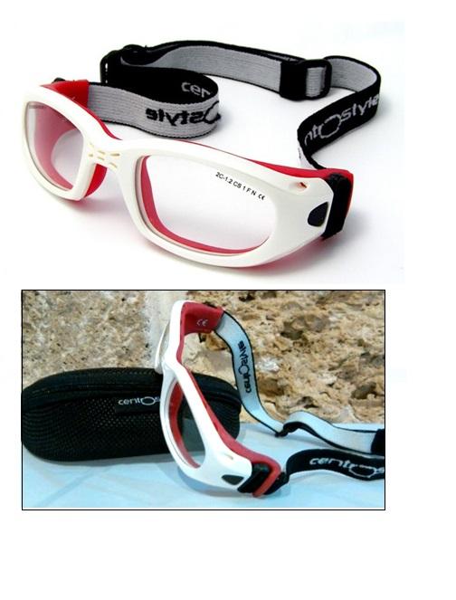 Óculos Esporte Banda Elástica 47-20 Bco/Vermelho Mod 13403 F