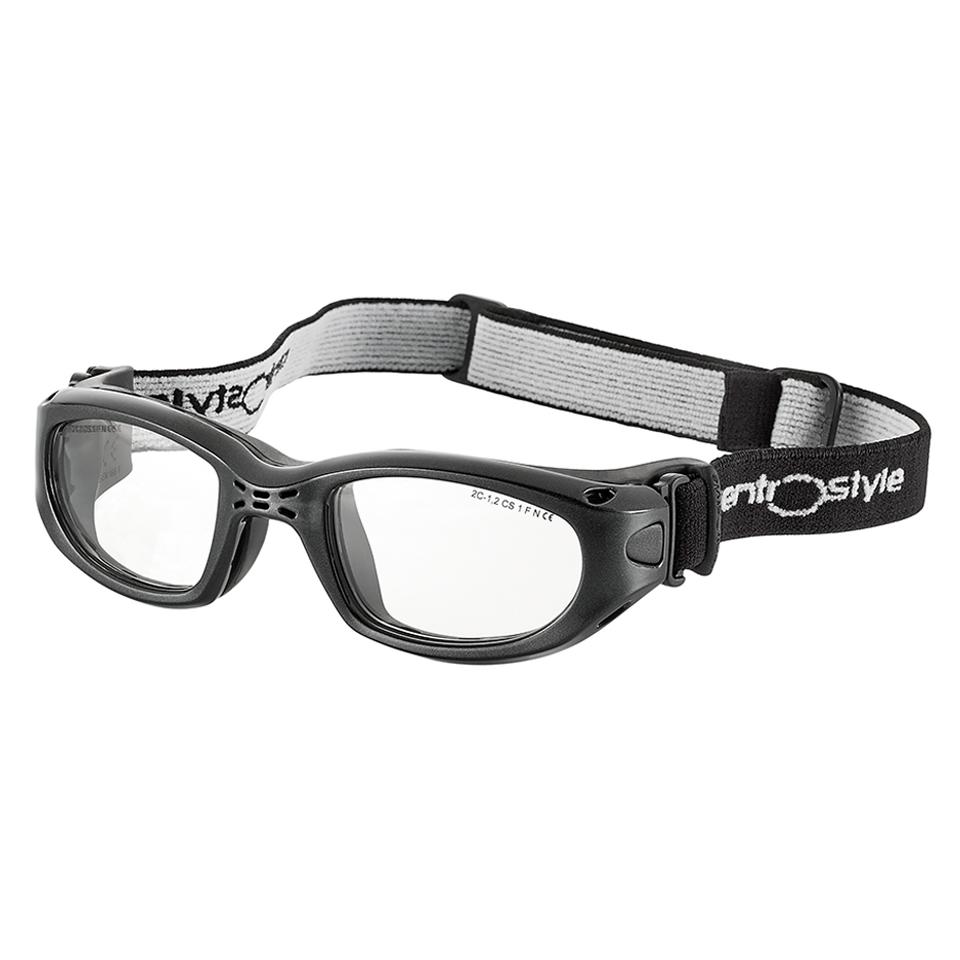 0213405 - Óculos Proteção Esporte Banda Elástica 47x20 Preto/Preto Mod 13405 FLAG E - Contém 1 Peça SOB ENCOMENDA