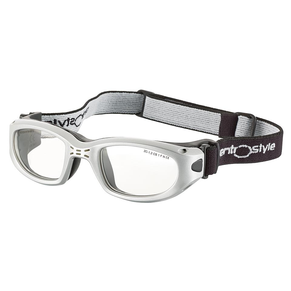 0213411 - Óculos Proteção Esporte Banda Elástica 49x21 Prata/Preto Mod 13411 FLAG E - Contém 1 Peça SOB ENCOMENDA