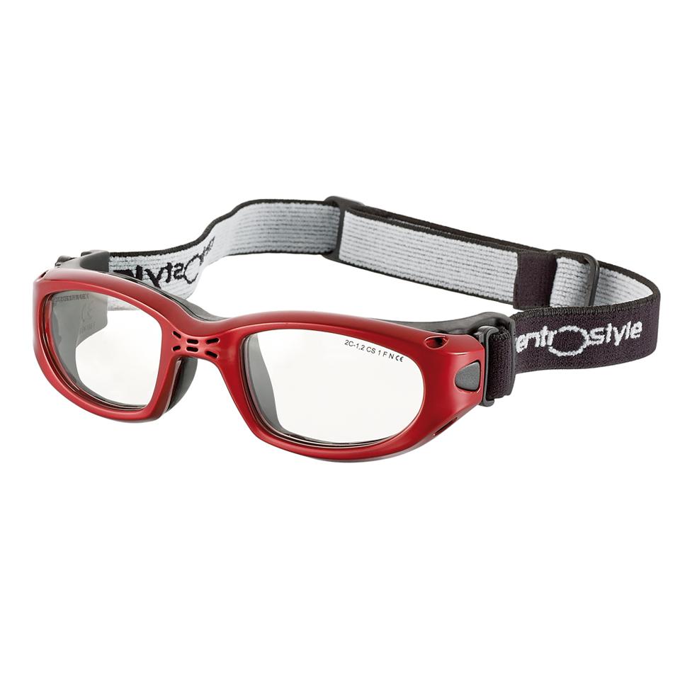 0213424 - Óculos Proteção Esporte Banda Elástica 51x22 Vermelho/Preto Mod 13424 FLAG E - Contém 1 Peça SOB ENCOMENDA