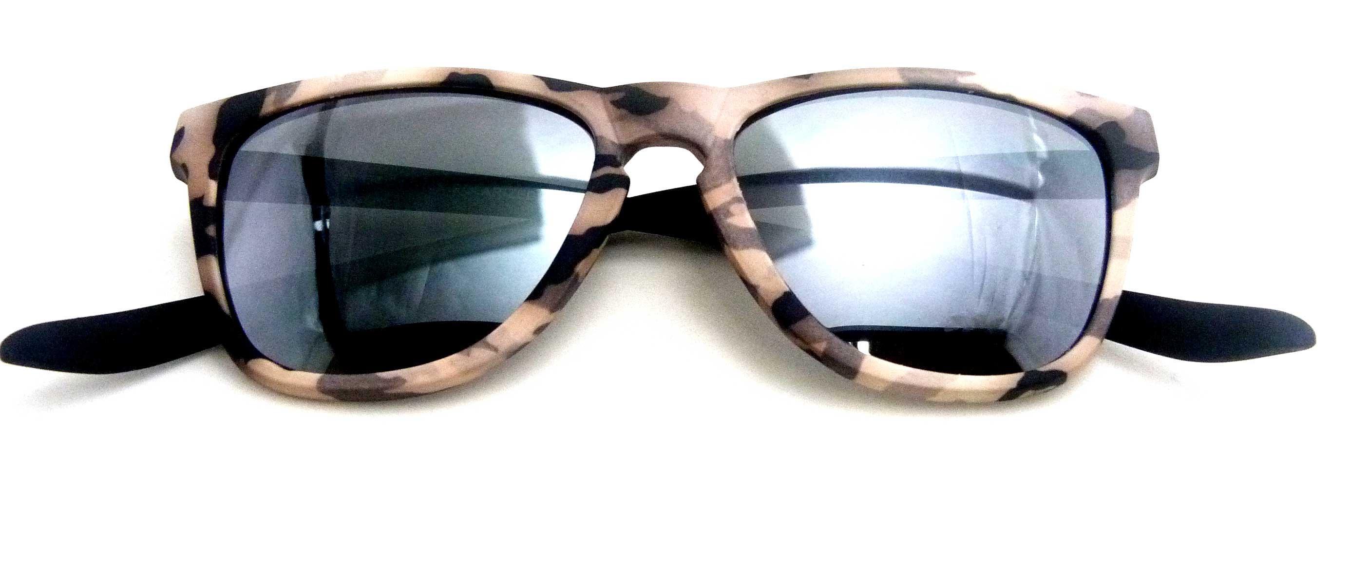 0215116 - Óculos-Solar CS Koala Camuflado 54x17 Marrom Mod 15116 FLAG 9  -Contém 1 Peça