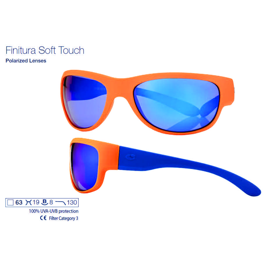 0215193 - Óculos-Solar CS Moto 63x19 Laranja/Azul/Azul Mod 15193 FLAG 9 - Contém 1 Peça