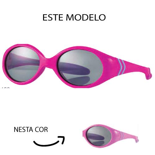 0216857 - Óculos-Solar Inf Baby 38x15 Rosa/Lilás Mod 16857 FLAG E - Contém 1 Peça SOB ENCOMENDA