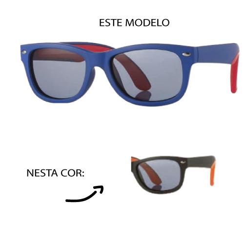 0216951 - Óculos-Solar Inf Junior 48x16 Preto/Laranja Mod 16951  -Contém 1 Peça