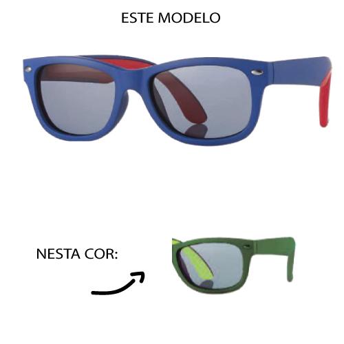 0216958 - Óculos-Solar Inf Junior 48x16 Verde/Verde Mod 16958  -Contém 1 Peça