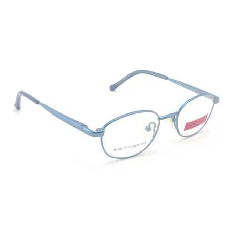 0217260 - Armação Metal (v) 40x15 Azul Claro Mod 17260 FLAG 9 - Contém 1 Peça