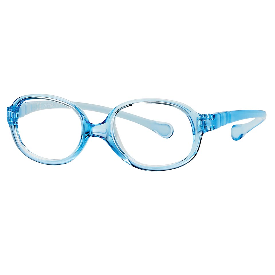 0217346 - Armação Inf Active Spring TR90 Oval (5) 41x15 Azul Cl Mod 17346N - Contém 1 Peça