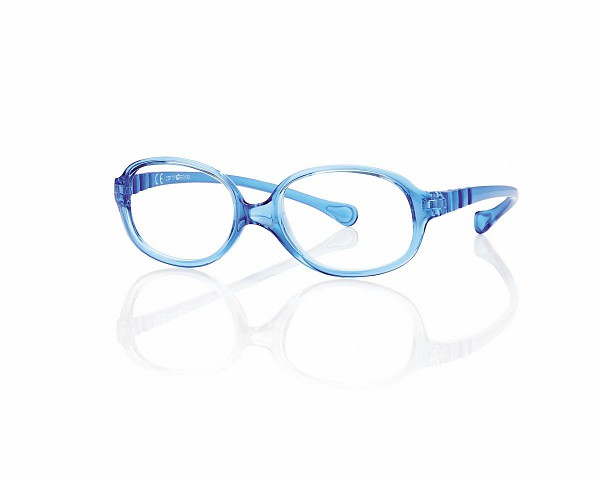 0217361N - Armação Inf Active Spring TR90 Oval (5) 46x15 Azul Mod 17361N - Contém 1 Peça