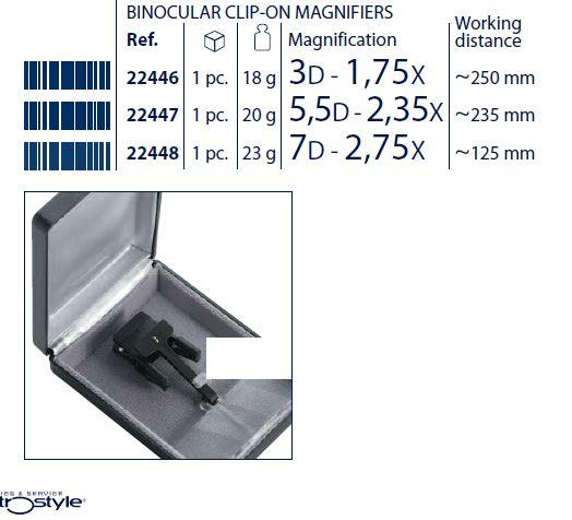 0222446 - Lupa Clip On 1,75x Binocular Mod 22446 FLAG E - Contém 1 Peça SOB ENCOMENDA