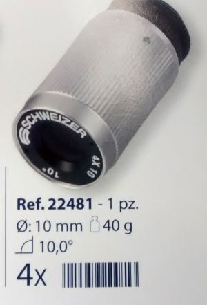 0222481 - Lupa Baixa Visão 4x D=10mm Kepler System Mod 22481 FLAG E - Contém 1 Peça SOB ENCOMENDA