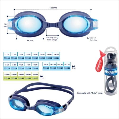 0255236 - Óculos Natação Swimmi Soft Medio -10,00 Mod 55236  -Contém 1 Peça
