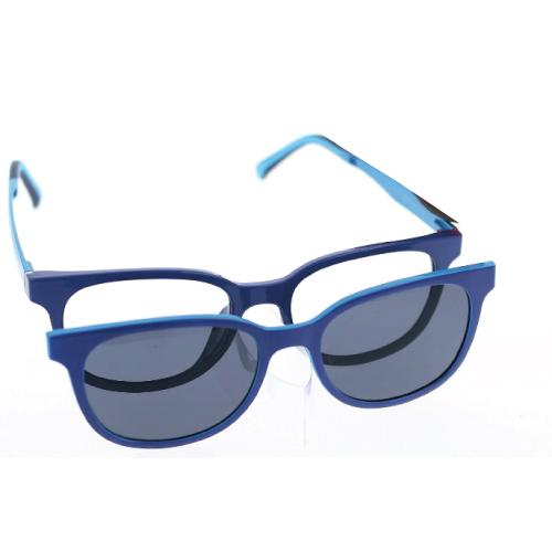 0256359 - Armação Ultem (p) +1 Clipon 47x16 Azul/Azul Claro e Lente Cinza Mod 56359 FLAG E - Contém 1 Peça SOB ENCOMENDA