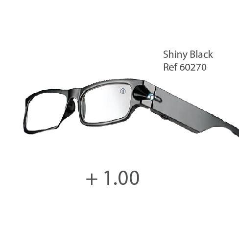 0260270 - Óculos Leitura Night Vision Preto +1,00 Mod 60270 FLAG 9 - Contém 1 Peça